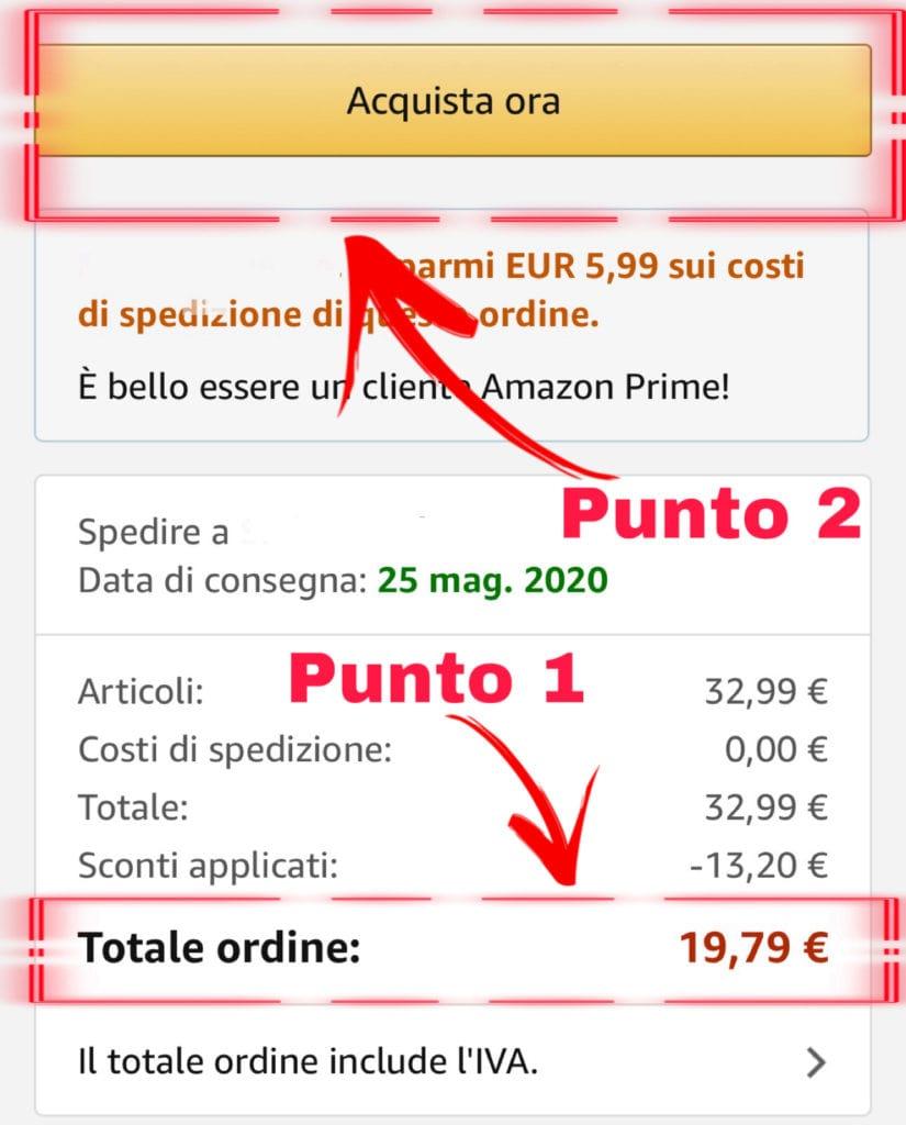 Come usare codice sconto su Amazon