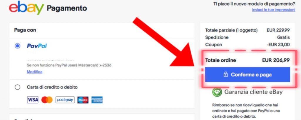 Come usare codici sconto ebay