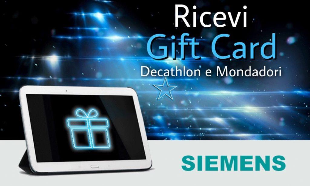 Siemens regala Gift Card Decathlon e Mondadori